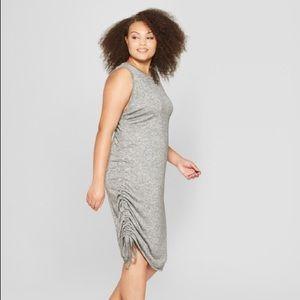Ava & Viv Dresses - AVA & VIV Ruched Side Sleeveless Knit Dress Size X